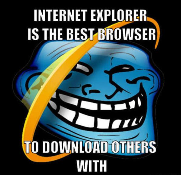 Netzfund: Danke Internet Explorer! Es war uns eine Ehre