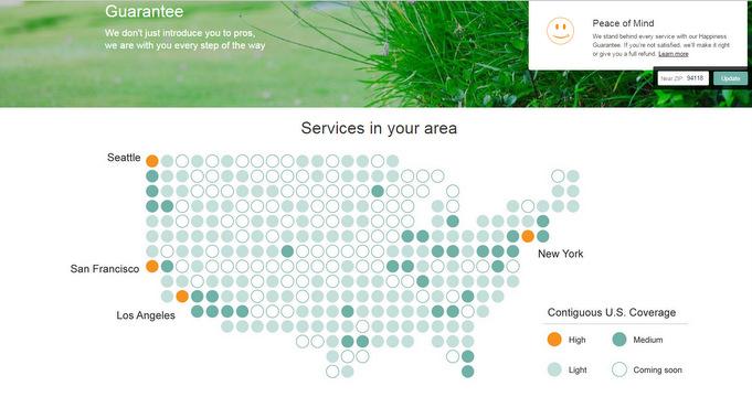 Schon in einem Großteil U.S.A. sind Dienstleistungen via Amazon Home Services bestellbar.