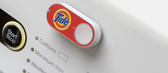Der Amazon-Dash-Button mit Tide-Brand.