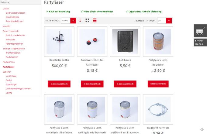 Huber Packaging B2B Shop