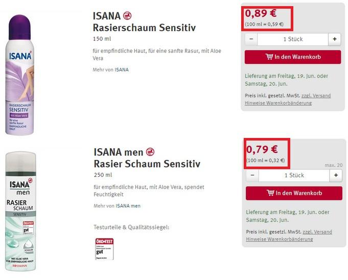 Nahezu identische Produkte zu unterschiedlichen Preisen