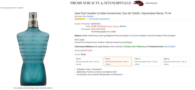 Amazon verschickt verwässerte Fälschungen dieses Produkts.