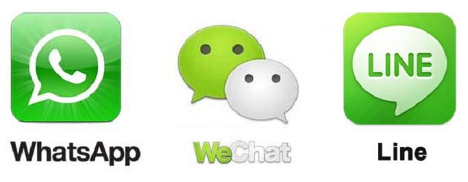 Foto: Whatsapp WeChat und LINE