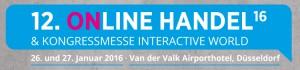 Auf zum Jahres-Kickoff der E-Commerce Branche: Online Handel 2016 am 26./27. Januar in Düsseldorf