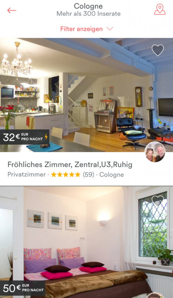 Screenshot: Airbnb-App