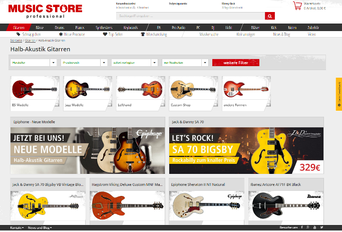 Screenshot: Musicstore.de