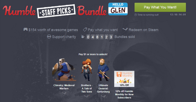 Pay what you want bei Humble Bundle