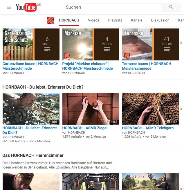Hornbach YouTube Kanal