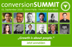 Growth is about People. conversionSUMMIT 2016 am 01. September in Frankfurt am Main [Eventtipp]