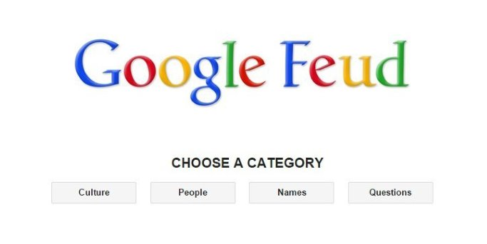 Screenshot von Google Feud