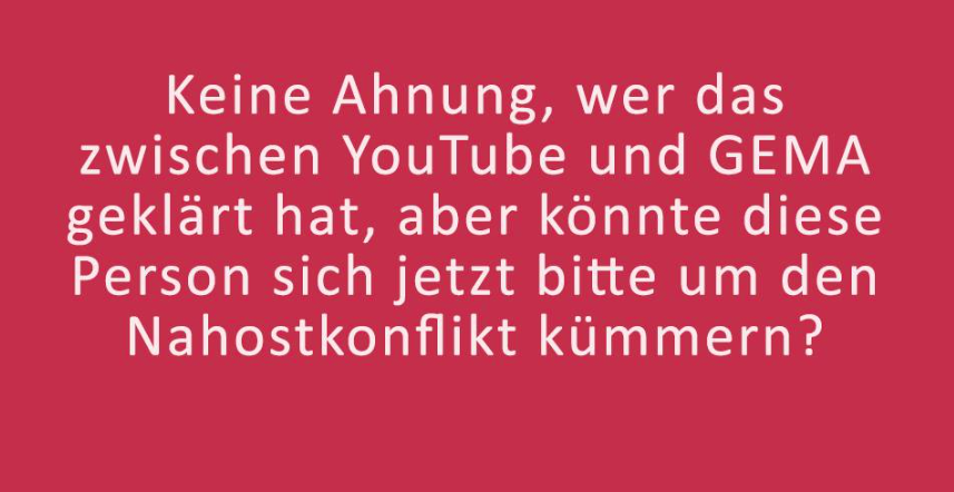 YouTube GEMA DrLiMa