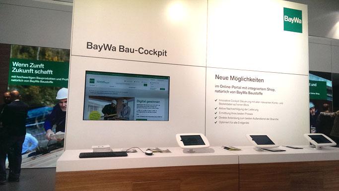 Stand der BayWa AG auf der BAU München