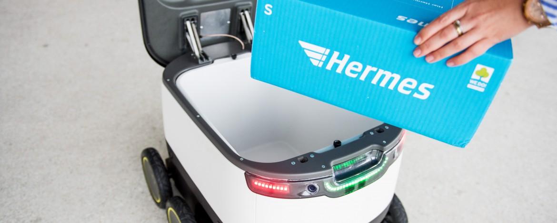 Hermes 6d9 roboter lieferung