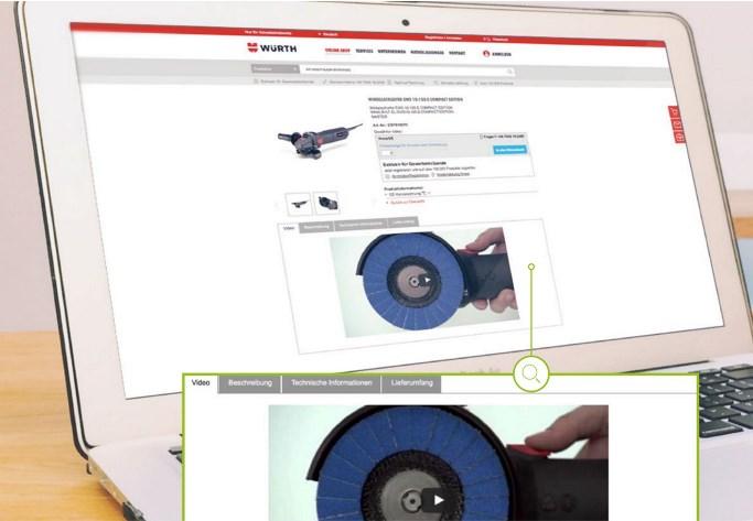 Durch Videoberatung werden Würth-Kunden Schritt für Schritt angeleitet