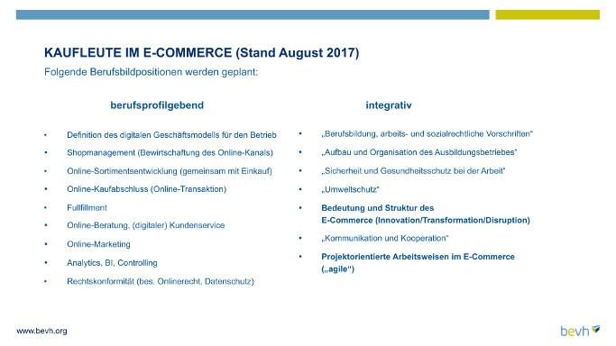 Berufsbild Kauffrau/Kaufmann im E-Commerce