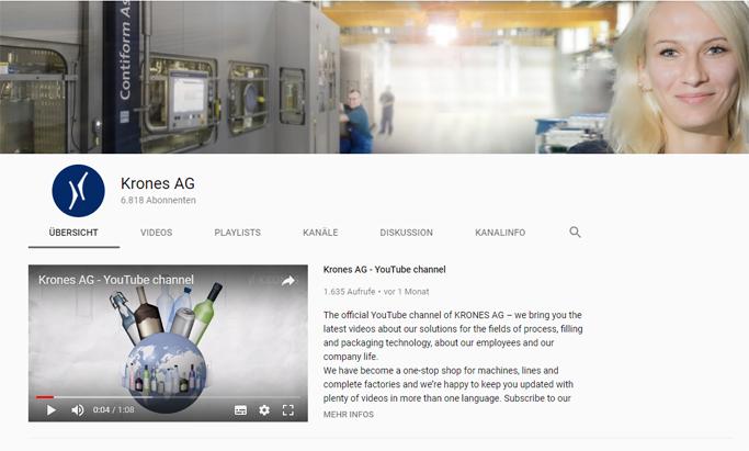 Krones AG Youtube