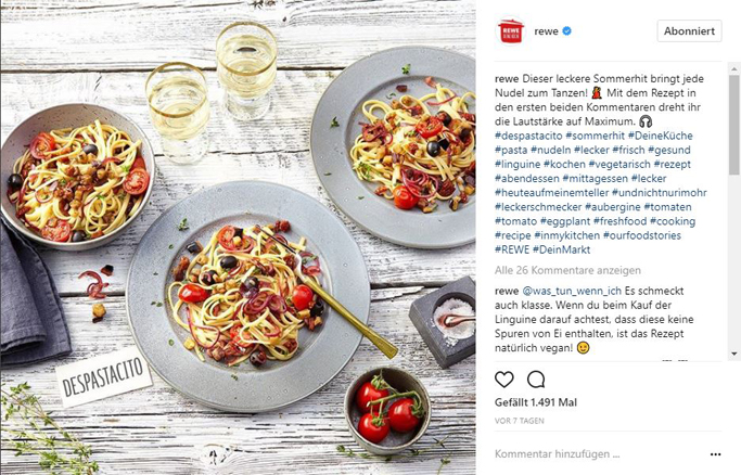 Rewe Content Marketing Instagram