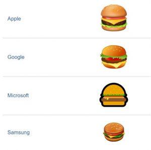 Netzfund: Burger- und Bier-Emojis sind manchmal komisch abgebildet!