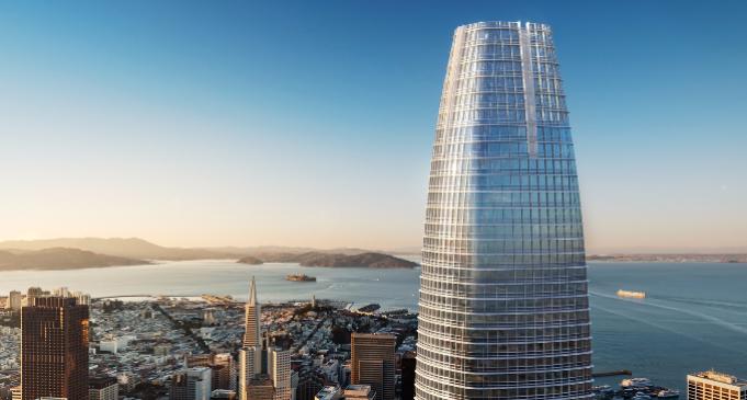 Der 326 Meter große Salesforce Tower