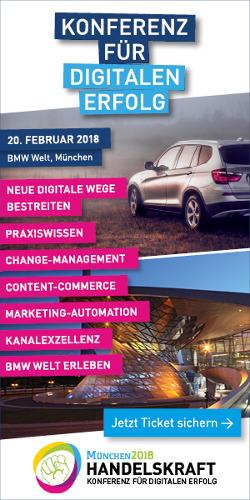 Banner Handelskraft Konferenz 2018 am 20. Februar in München