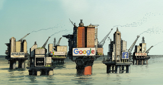 Bild: David Parkins - Platforms (erstmalig erschienen bei The Economist)