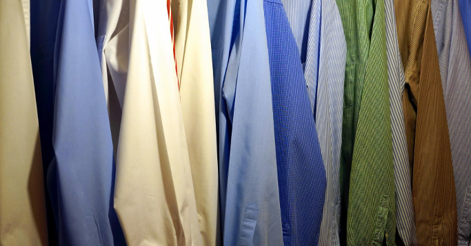 a selection of shirts
