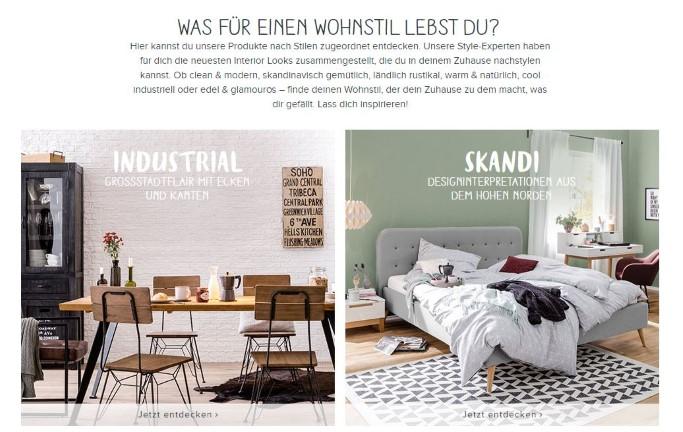 Content & Commerce Beispiel von home24.de