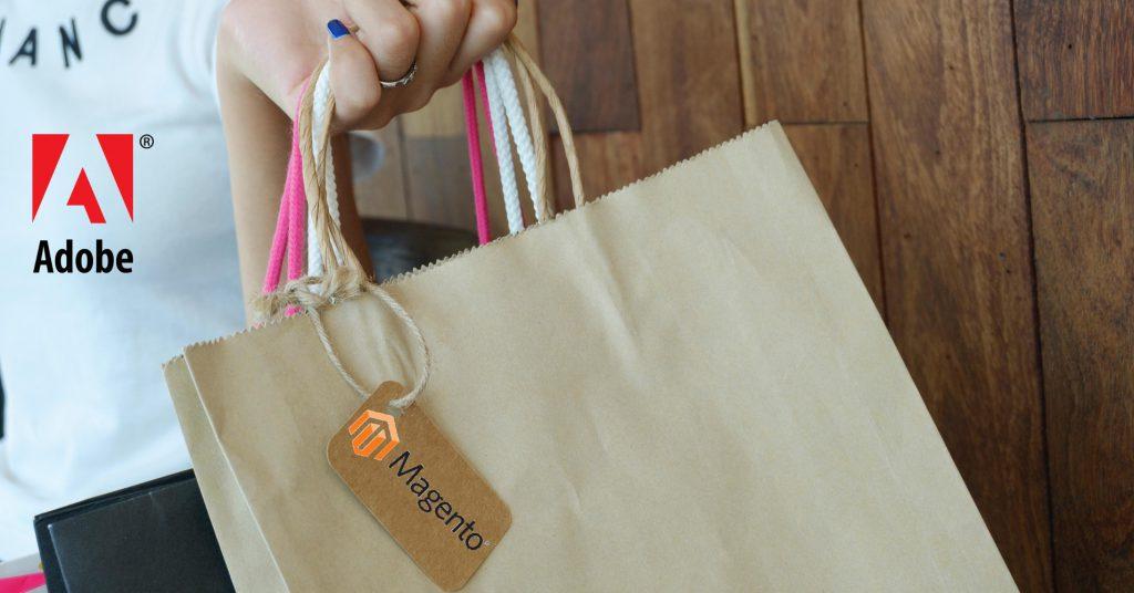 Adobe mit Magento Shoppingbeutel
