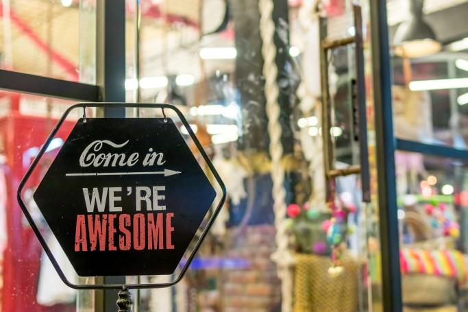 store, showcase, open