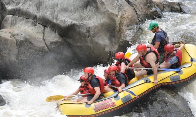 rafting, water, group, sport, kajak