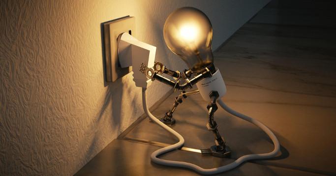 glühbirnenroboter steckdose