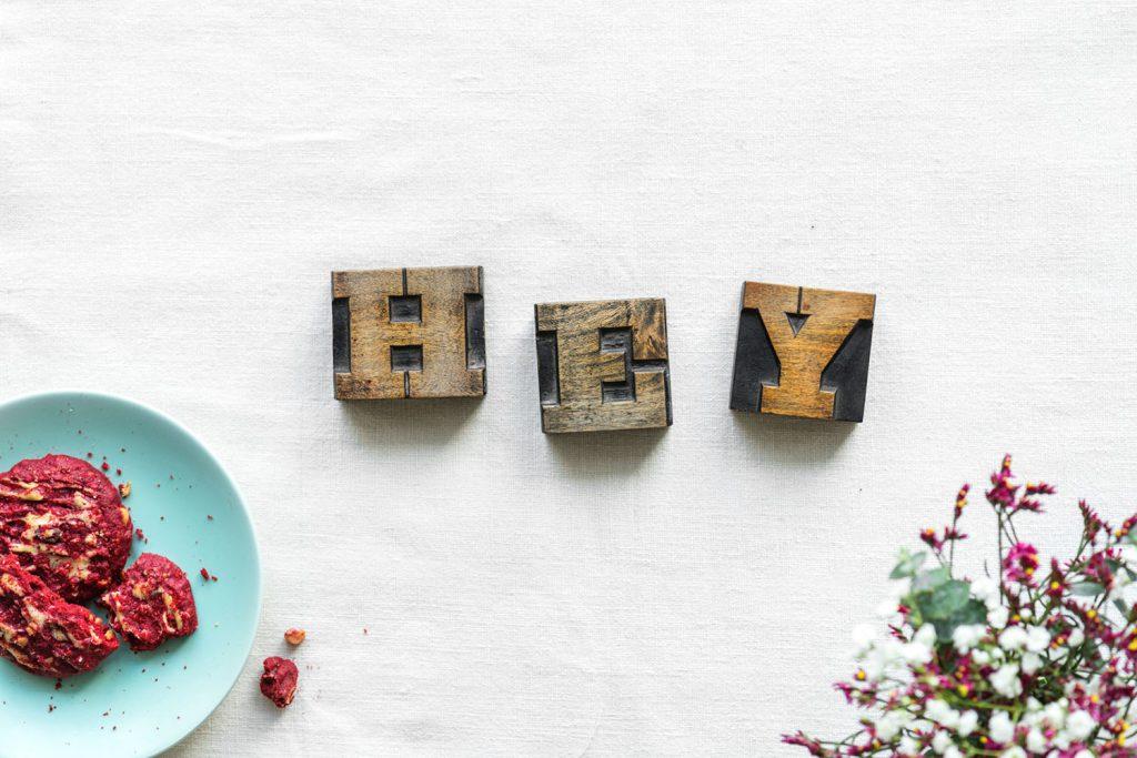 Hey auf Tisch