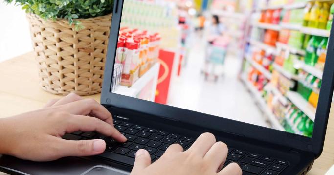 Laptop View Supermarkt Netto