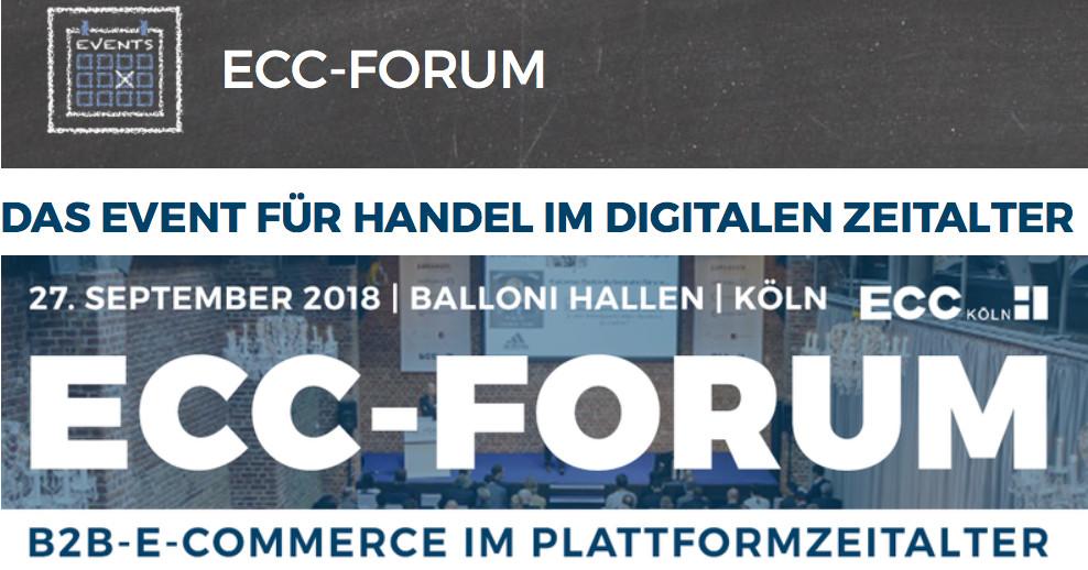 »B2B-E-Commerce im Plattformzeitalter – Chancen und Konzepte« auf dem ECC-Forum 2018 [Eventtipp]