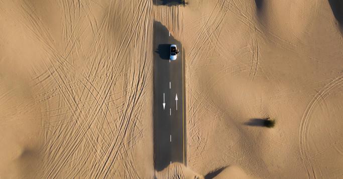 wüstenstraße von oben