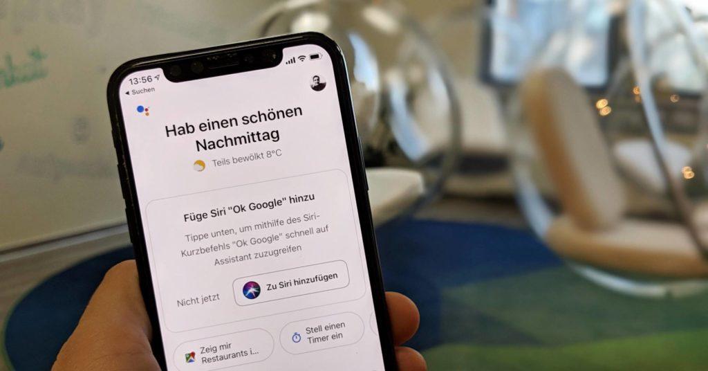 Google Assistant mit Siri auf dem iPhone