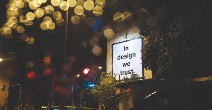 city lights trust in design plakat