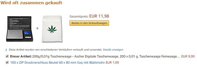 Amazon Suchanfrage