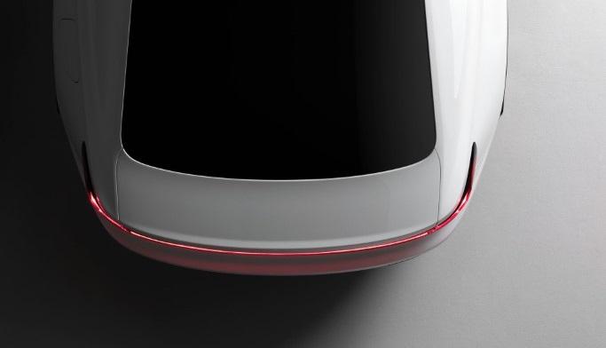 Der elektrische Auto, der Polestar 2, von Volvo.