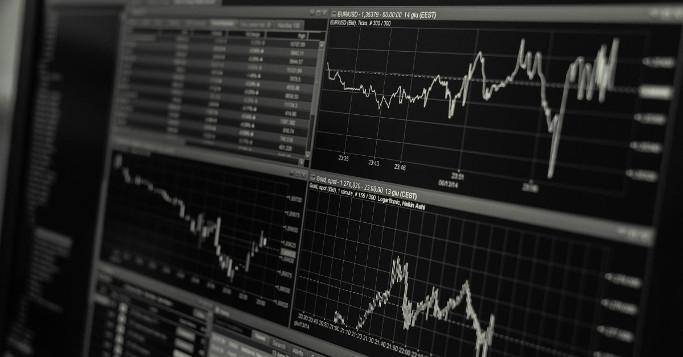 Preis Ups and downs Börsengrafik auf PCs