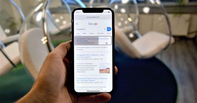 App mit der man das iPhone mit Blicken steuern kann