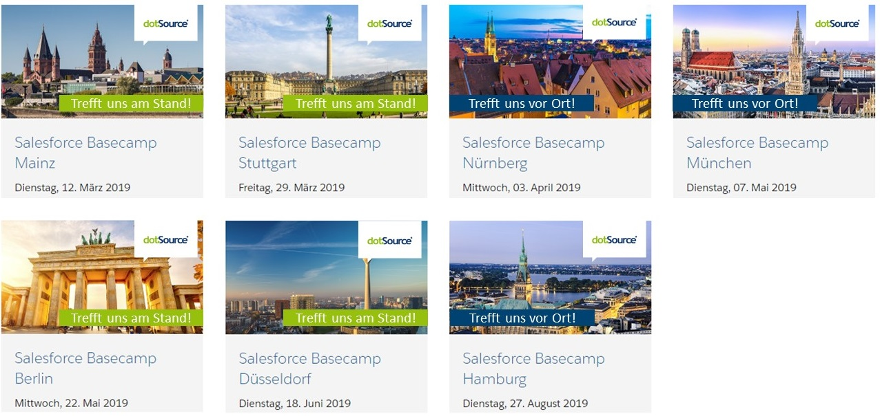 dotSource auf der Salesforce Basecamp Tour 2019