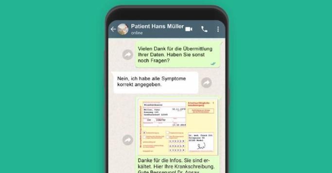 Krankschreiben, Whatsapp, Au
