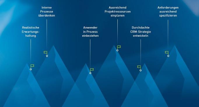 CRM Software auswählen Herausforderungen