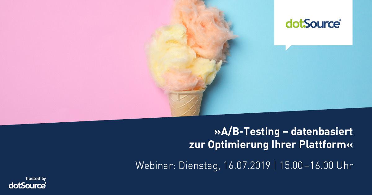 a/b-Testing, webinar, testing, data driven, dotsource