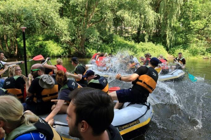 teamevent 2019, dotsource, bootsfahrt auf saale