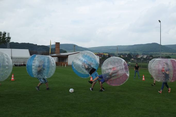 teamevent 2019, dotsource, bubble soccer