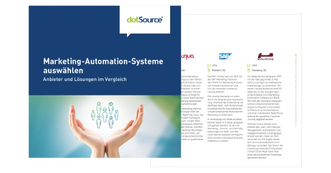 Marketing-Automation-Software auswählen Whitepaper Cover