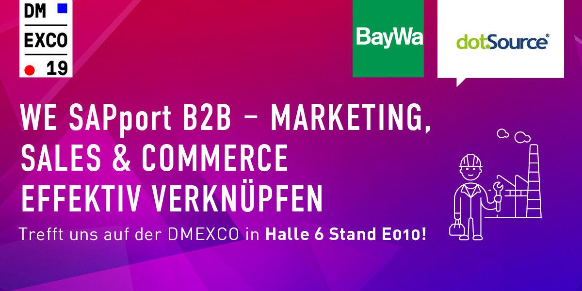 DMEXCO 2019 – Mit dotSouce und SAP die Customer Experience verbessern [Eventtipp]