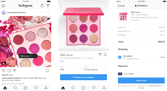 Social Commerce auf Instagram, Pinterest und Facebook